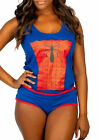 Spiderman Underoos Women's Underwear Set Tank Top Cami + Panties Pajamas NIB