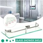 Внешний вид - Modern Glass Corner Holder Rectangle Shelf Wall Mounted Bathroom Shower Storage