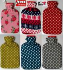 Large & Small Hot Water Bottle High Quality Bottles With Beautiful Fleece Covers