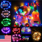 US 10X 1M-4M Xmas Copper Wire Decor Fairy LED String light Lamp Battery Powered
