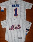 New York Mets Cool Base MLB Majestic Kids 4/7 Replica Jersey add name and number