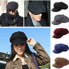 Retro Women Men Cabbie Newsboy Flat Gatsby Cap Men Women Hat Golf Driving New