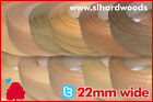 Pre Glued Iron On Edging Real Wood Veneer Edge Banding Tape 22mm Various Species