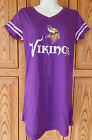 Minnesota Vikings Jersey Sleep Dress Night T Shirt Top Pajamas Cover Up NFL