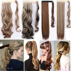 Long Straight Curly Wrap Around Ponytail Clip In As Human Hair Extensions Fake F