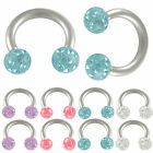 ferido crystal eyebrow bars circular barbell horseshoe ring 9IAA-PICK COLOR&SIZE