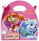 6 x Paw Patrol Pink Skye & Everest Kids Birthday Party Bag Food Gift  Cake Box