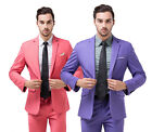 Formal Mens Suits Quality Men Wedding Work Evening Suit Tuxedos Pink Purple