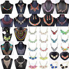 Fashion Women Crystal Chunky Choker Chain Pendant Necklace Bib Statement Charm