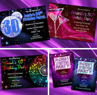 Birthday Party Invitations 18th 21st 30th 40th 50th Personalised Invites