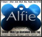 Engraved PET ID Dog and Cat Id Name Disc/Disk Tags Bones, Paws, Star, Heart etc.