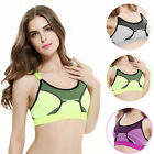 Women's Designer Sports Bra Gym Workout Fitness Exercises Crop Top Vest Stretch