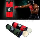MMA Muay Thai Kick 90cm Unfilled Empty Punch Hanging Boxing Bag Set Gloves Hook