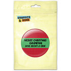 Merry Christmas Red Green Personalized Kitchen Refrigerator Locker Button Magnet