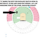 2 OF 4 AWESOME TICKETS! SECTION 47! ROW 25! LADY GAGA 12/5 AUSTIN TEXAS