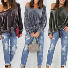 Fashion Women's Casual Solid Color Loose Blouse Tops Ladies Long Sleeve Shirts