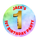 Personalised Party Goody Bag Stickers thank you seals boys & girls 1-10 birthday