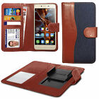 For Lenovo Golden Warrior S8 - Fabric Mix Clip Function Wallet Case Cover