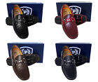 Men PHAT FARM black burgundy brown navy faux leather gator d