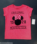 DISNEY Store TEE for Girls MINNIE MOUSE ICON MOUSEKETEER T Shirt Choose Size NWT
