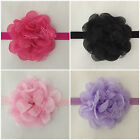 baby girls headband hair bow band floral flower nylon lace party photo
