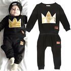0-36M Infant Baby Kid Girls Boys T-shirt Tops+Long Pants Outfits Clothes Sets UK