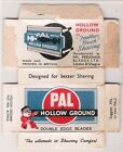 PAL vintage RAZOR BLADE PACKAGING   ADVERTISING   no blades
