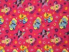 MY LITTLE PONY :  pink cutie toss : 100% LICENSED cotton :  by the 1/2 metre