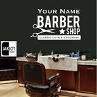 BARBER SHOP Personalised name wall art sticker decal salon hairdressers