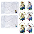 Baby Christening Baptism White SWADDLING BLANKETS Embroidery Virgin Mary Pope