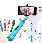 New Foldable Selfie Stick Tripod Bluetooth Remote For iPhone 7 6 Plus 5 5S US