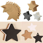 100Pcs Star Kraft Paper Hang Tags Wedding Party Favor Label Luggage Gift Card MA