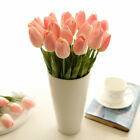 pink tulip - 10pcs Tulip Artificial Flower Latex Real Touch Bridal Wedding Bouquet Home Decor
