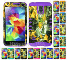 KoolKase Hybrid Silicone Cover Case for Samsung Galaxy S5 i9600 - Camo Mossy 04