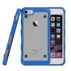 Shockproof Rugged Hybrid Rubber Clear TPU+Hard PC Case Cover For iPhone Blue