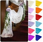 5M*1.35M Table Chair Swags Sheer Organza Fabric Wedding Party Bow Decoration