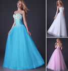 Womens Beaded Evening Long Dress Party Ball Prom Gown Wedding Bridesmaids Bridal