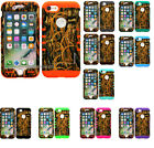 iphone 7 case, Hybrid Slim Impact Cover Shockproof Grass Camo on Skin