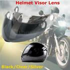 Motorcycle Helmet Visor Lens Replacement Kit For Virtue 800 Clear Black Silver