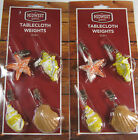 Внешний вид - 8 Pc.Set Assorted Sea Shell Tablecloth Weights Secure Tablecloth From Breezes