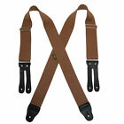 New Welch Men's Elastic X Back Button End Work Suspenders