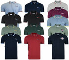 Mens Lambretta Classic Target Short Sleeve Polo Pique Tee Shirts Sizes S to 4XL
