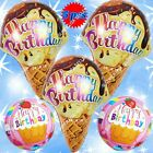 tiger print birthday cakes - BIG ICE CREAM BALLOONS HUGE CAKE NUMBERS ANIMALS HAPPY BIRTHDAY PARTY SUPPLIES A