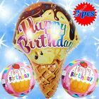 tiger print birthday cakes - BIG ICE CREAM BALLOONS CAKE NUMBERS ANIMALS DECOR BIRTHDAY PARTY SUPPLIES B