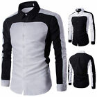 New Stylish Mens Slim Fit Casual Shirt Shirts Top Long Sleeve  M L XL XXL 3XL