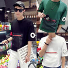 Fashion Men Slim Fit Casual Shirt T-Shirt Short Sleeve Cotton T-Shirts Tee Tops
