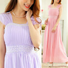 new hand-beaded evening gown long chiffon party Bridesmaid womens maxi dresses