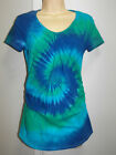 TIE DYE / DYED MATERNITY TOP WITH SIDE ROUCHING AVAILABLE IN SIZE Small