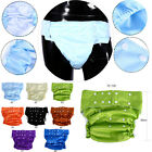 8color Teen Adult Washable Adjustable Cloth Diaper Incontinence Nappy Pants Wd73