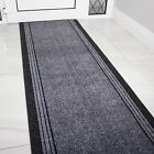long hallway runner rugs - NEW Grey Rubber Backed Very Long Hallway Hall Runner Narrow Rugs Custom Length